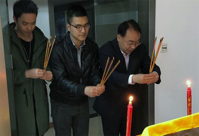 [从左到右:周志成、张兴金、马思红)